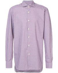 Kiton - Check Shirt - Lyst