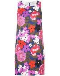Trina Turk - Floral Print Fitted Dress - Lyst