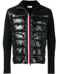 Moncler - Padded Zip Front Cardigan - Lyst