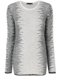 Alexander Wang - Frayed Tunic Jumper - Lyst