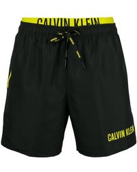 CALVIN KLEIN 205W39NYC - Double Waistband Swim Shorts - Lyst