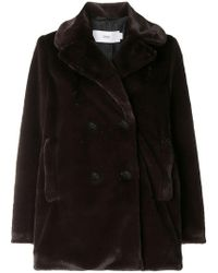 Closed - Double-breasted Fitted Coat - Lyst