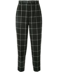 Astraet | Cropped Grid Trousers | Lyst