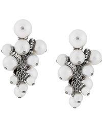 Lanvin | Embellished Pearl Earrings | Lyst