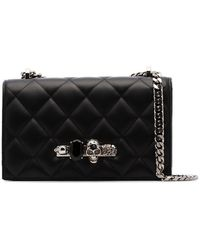 Alexander McQueen - Black Bejewelled Knuckle Duster Shoulder Bag - Lyst