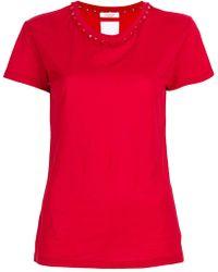 Valentino - Rockstud Trim T-shirt - Lyst