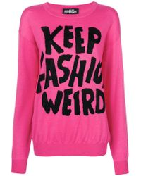 Jeremy Scott - Keep Fashion Weird Jumper - Lyst