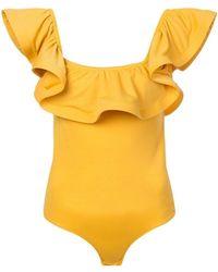 MISA - Lyda Frilled Bodysuit - Lyst