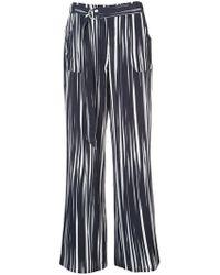 Nicole Miller - Wide Leg Trousers - Lyst
