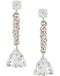 Christopher Kane - Crystal Drop Earring - Lyst
