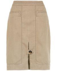 Egrey - Panelled Straight Skirt - Lyst