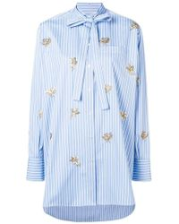 Valentino - Embroidered Floral Detail Shirt - Lyst
