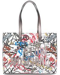 Love Moschino - Graffiti Print Tote - Lyst