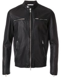Dondup - Band Collar Leather Jacket - Lyst