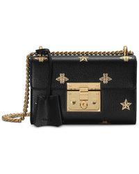 d06b3499229 Gucci - Padlock Bee Star Small Shoulder Bag - Lyst