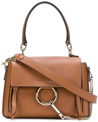 Chloé - Faye Brown Leather Handbag - Lyst