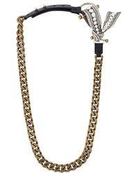 Lanvin - Bow Detail Chain Necklace - Lyst