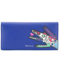 PS by Paul Smith - Karami Crocodile Appliqué Folded Purse - Lyst