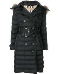 Burberry | Fur Trim Puffer Coat | Lyst