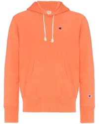 Champion - Reverse Weave Terry Cotton Hoodie - Lyst