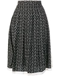 Chloé - Printed Full Skirt - Lyst