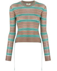 Fendi - Striped Fitted Sweater - Lyst