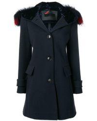 Rrd - Пальто С Меховой Отделкой Капюшона - Lyst