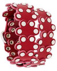 RED Valentino - Red(v) Studded Floral Bracelet - Lyst