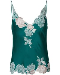 Carine Gilson - V-neck Lace Camisole Top - Lyst