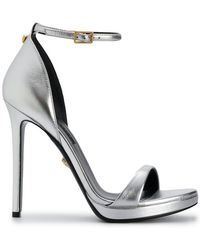 Versace - Metallic Open-toe Sandals - Lyst