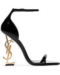 Saint Laurent Opyum Patent-leather Sandals