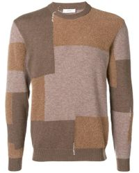Mauro Grifoni - Colour-block Fitted Jumper - Lyst