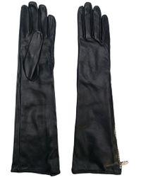 Moschino - Long Zipped Gloves - Lyst