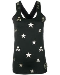Philipp Plein - Fitted Signature Symbols Vest - Lyst