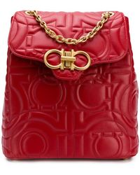 Ferragamo - Quilted Gancini Backpack - Lyst