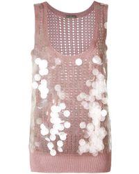 Bottega Veneta - Peach Rose Silk Top - Lyst