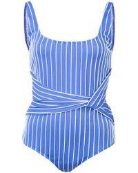 Jonathan Simkhai - Striped Tank Swimsuit - Lyst