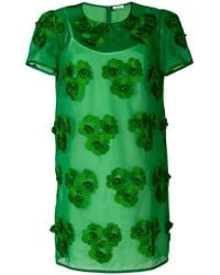 P.A.R.O.S.H. - Floral Embroidered Shift Dress - Lyst