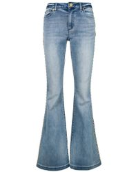 MICHAEL Michael Kors - Studded Flared Jeans - Lyst