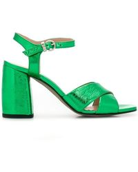 30a4f1df72c Marc Jacobs Leopard Print Heel Sandals in Black - Lyst