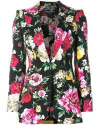 Dolce & Gabbana - Floral Print Blazer - Lyst