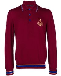 Billionaire - Embroidered Knitted Polo Shirt - Lyst