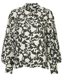 Christian Wijnants - Printed Bell Sleeve Blouse - Lyst