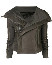 Rick Owens - Leather Biker Jacket - Lyst