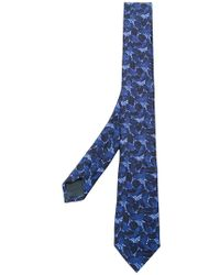 Z Zegna - Floral Embroidered Tie - Lyst