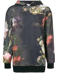 Palm Angels - Floral Print Hoodie - Lyst