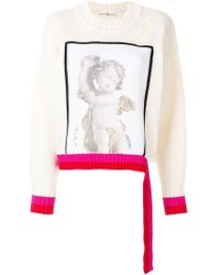 Golden Goose Deluxe Brand - Angel Print Distressed Sweater - Lyst