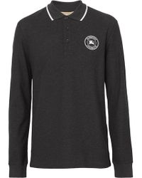 Burberry - Рубашка-поло С Длинными Рукавами И Логотипом - Lyst
