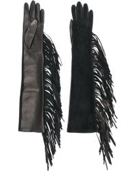 Manokhi - Fringed Long Gloves - Lyst