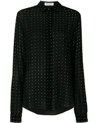 Saint Laurent - Polka Dot Sheer Shirt - Lyst